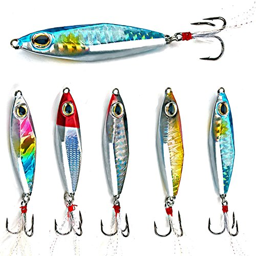 Rhombus surface design and spear shape can draw attention of fish effectively. Smooth and rapid diving action. The enticing vertical motion of jigging has ...