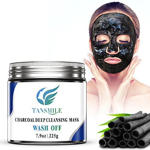 Diy Activated Charcoal Mask To Draw Out Deep Dwelling Pore: Charcoal Mud Mask Wash Off, Tansmile Deep Pore Cleansing