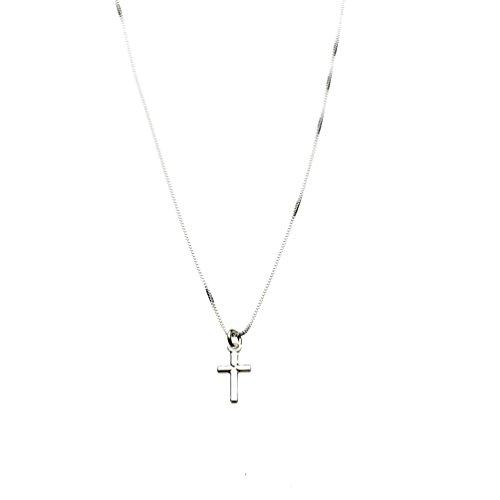 Befettly Tiny Cross Necklace Pendant Women Simple Bar