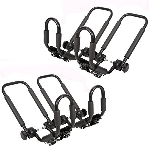 2 Pairs Folding Kayak Carrier Boat Canoe Rack Snowboard J