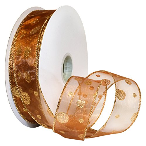 New Decorative Autumn Fall Harvest Colors Fabric Wired Spool Of Ribbon Tape